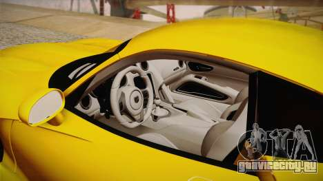 Dodge Viper SRT 2013 для GTA San Andreas вид сбоку