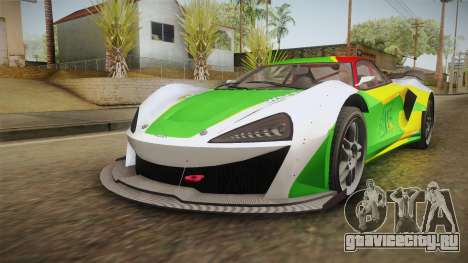 GTA 5 Progen Itali GTB Custom IVF для GTA San Andreas вид сверху