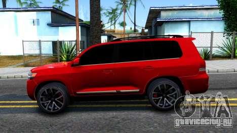 Toyota Land Cruiser 2016 для GTA San Andreas вид слева