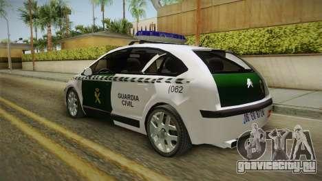 Citroen C4 Guardia Civil для GTA San Andreas вид слева