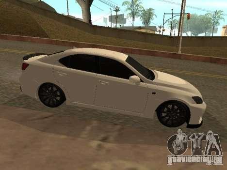 Lexus IS F Armenian для GTA San Andreas вид слева