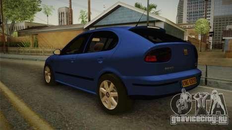 Seat Leon 1.9 TDI для GTA San Andreas вид справа