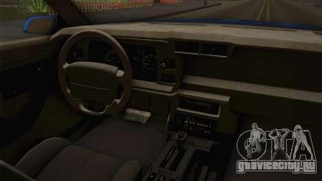 Chevrolet Camaro IROC-Z FBI 1990 для GTA San Andreas вид сзади