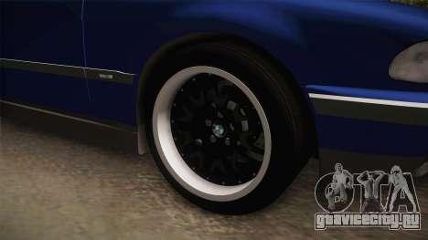 BMW 730d E38 для GTA San Andreas вид сзади