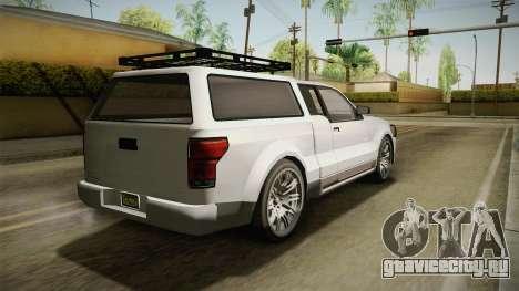 GTA 5 Vapid Contender 4 (5) для GTA San Andreas вид слева