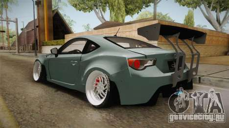 Scion FR-S RocketBunny 2013 для GTA San Andreas вид сзади слева
