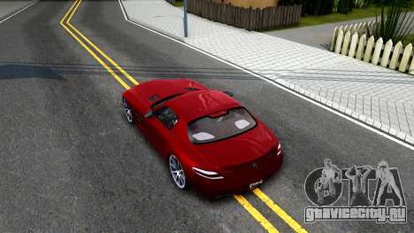 Mercedes Benz SLS AMG 6.3 2011 для GTA San Andreas вид сзади