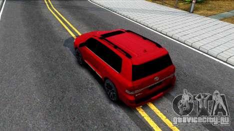 Toyota Land Cruiser 2016 для GTA San Andreas вид сзади