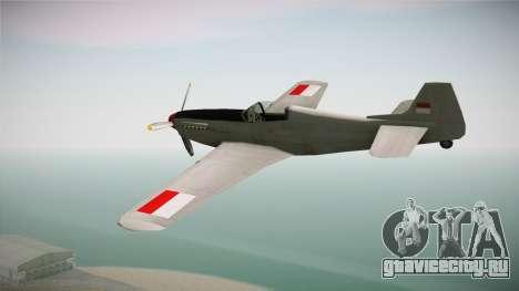 Rustler Indonesian Air Force v2 для GTA San Andreas вид справа