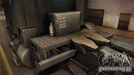 M1070 6x6 Oshkosh HET для GTA San Andreas вид изнутри