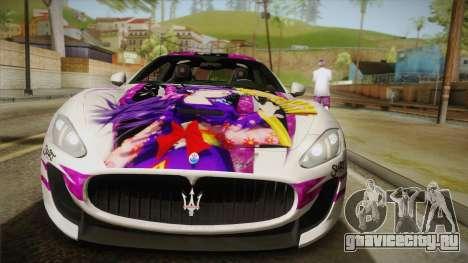 Maserati GranTurismo 2014 GOODSMILE Racing для GTA San Andreas вид справа
