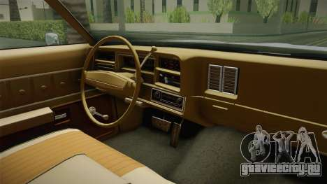 Chevrolet El Camino 1973 для GTA San Andreas вид изнутри