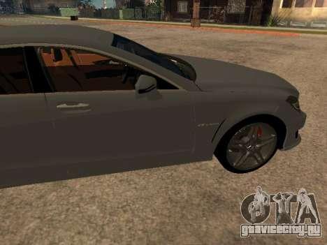 Mercedes-Benz CLS 63 AMG Armenian для GTA San Andreas вид слева