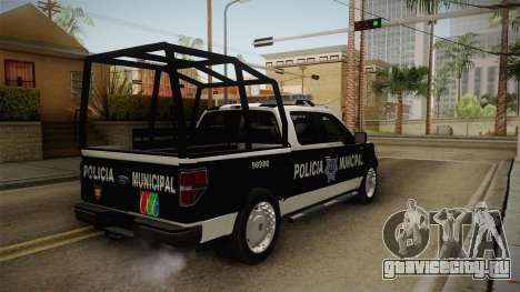 Ford F-150 Policia Municipal De Tijuana для GTA San Andreas вид слева