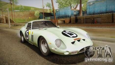 Ferrari 250 GTO (Series I) 1962 HQLM PJ1 для GTA San Andreas вид сбоку