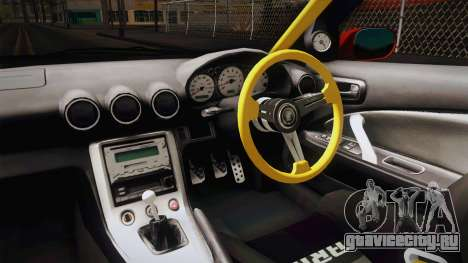 Nissan Silvia S15 Drift для GTA San Andreas вид изнутри