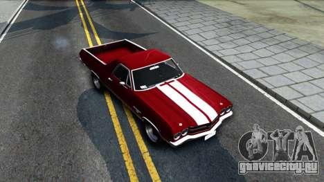 Chevrolet El Camino SS для GTA San Andreas вид справа