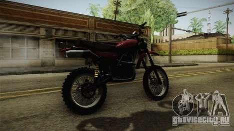 GTA 5 Dinka Enduro для GTA San Andreas вид сзади слева