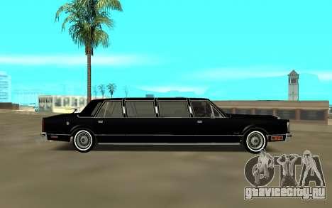 Lincoln 1988 для GTA San Andreas вид слева