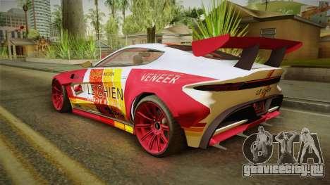 GTA 5 Dewbauchee Specter Custom для GTA San Andreas двигатель