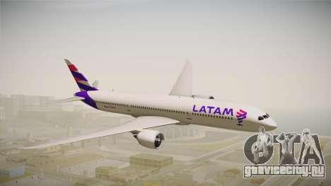 Boeing 787 LATAM для GTA San Andreas вид сзади слева