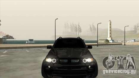 BMW X5 HAMANN для GTA San Andreas вид справа