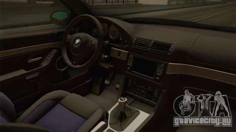 BMW M5 E39 Stock 2001 для GTA San Andreas вид изнутри