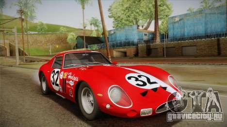 Ferrari 250 GTO (Series I) 1962 HQLM PJ1 для GTA San Andreas салон