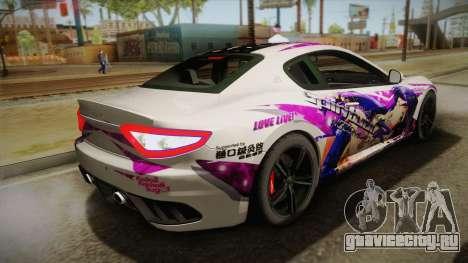 Maserati GranTurismo 2014 GOODSMILE Racing для GTA San Andreas вид слева