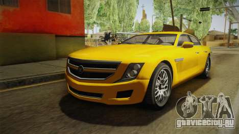 GTA 5 Albany Alpha Sedan для GTA San Andreas вид сзади слева