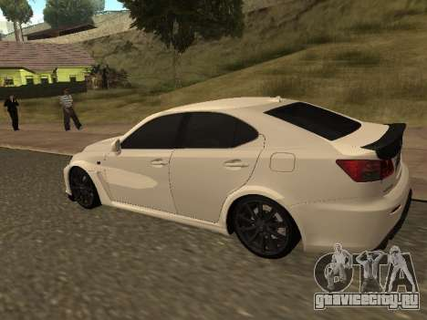 Lexus IS F Armenian для GTA San Andreas вид сзади слева