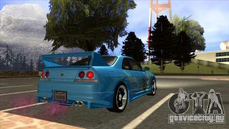 Nissan Skyline GTS25-t Mk.IX [R33] IVF Tunable для GTA San Andreas вид слева
