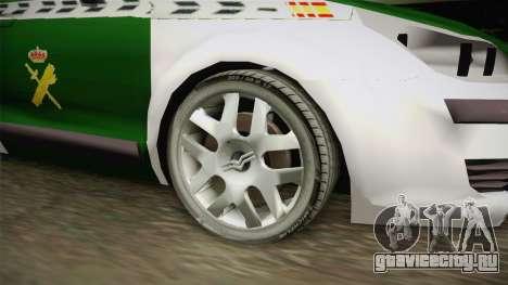 Citroen C4 Guardia Civil для GTA San Andreas вид сзади