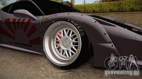 Ferrari 458 Liberty Walk Performance для GTA San Andreas вид сзади