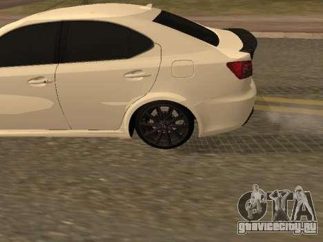 Lexus IS F Armenian для GTA San Andreas вид справа