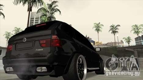 BMW X5 HAMANN для GTA San Andreas вид слева