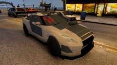 Nissan GTR Armored White 2017 для GTA 4