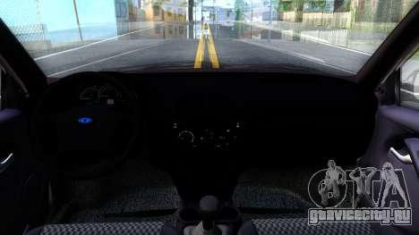 ВАЗ 2119 Калина для GTA San Andreas вид изнутри
