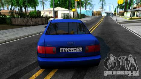 AUDI A8 Long 2002 для GTA San Andreas вид сзади слева