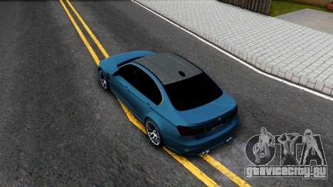 BMW M3 F30 для GTA San Andreas вид сзади