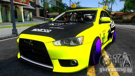 Mitsubishi Lancer Evolution X Tuning для GTA San Andreas