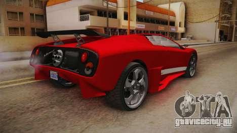 GTA 5 Pegassi Infernus Cabrio для GTA San Andreas вид справа