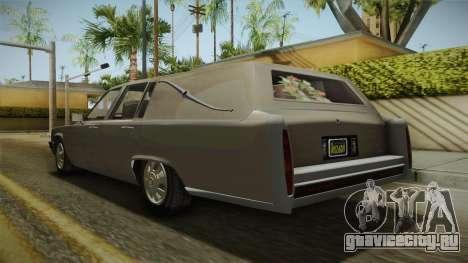 GTA 5 Albany Emperor Hearse для GTA San Andreas вид сзади слева