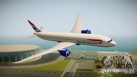 Boeing 787 British Airways для GTA San Andreas