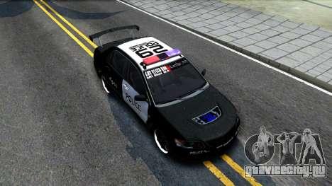 Mitsubishi Lancer Evolution IX Police для GTA San Andreas вид справа