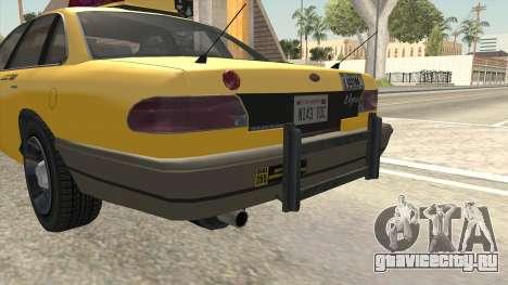 GTA 4 Taxi Car SA Style для GTA San Andreas вид сбоку