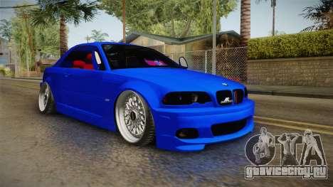 BMW 3 Series E46 Cabrio King для GTA San Andreas вид справа