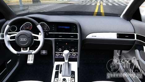 Audi RS6 Avant для GTA San Andreas вид изнутри