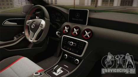 Mercedes-Benz A45 AMG 2012 для GTA San Andreas вид изнутри
