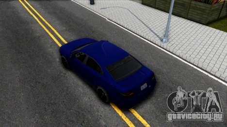 Elegant GTA V ImVehFt для GTA San Andreas вид сзади